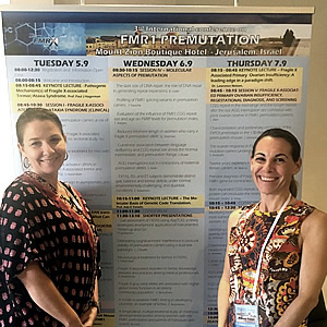 Anne Wheeler and Melissa Raspa at Jerusalem conference