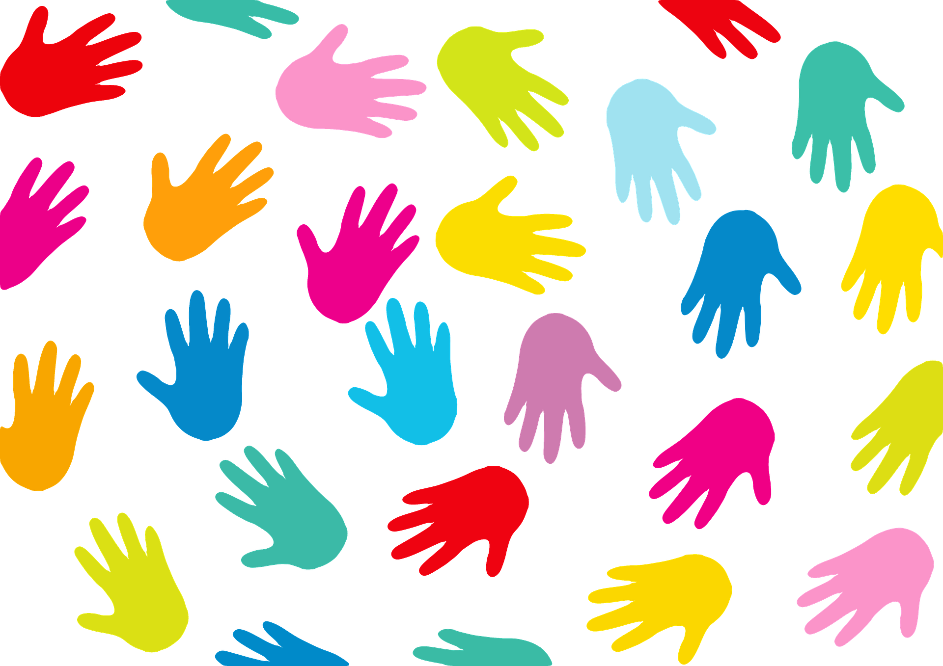 Multicolored hands